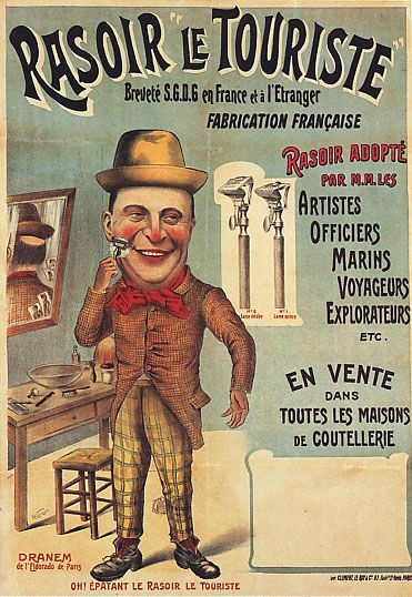 Affiche Rasoir Le Touriste