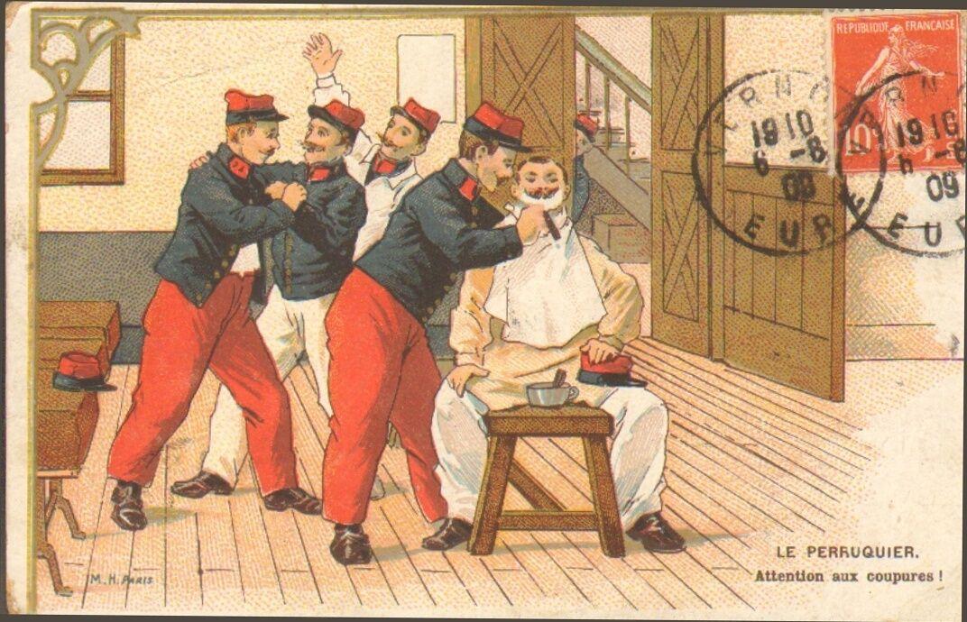 Carte Postale - Humour - Barbier