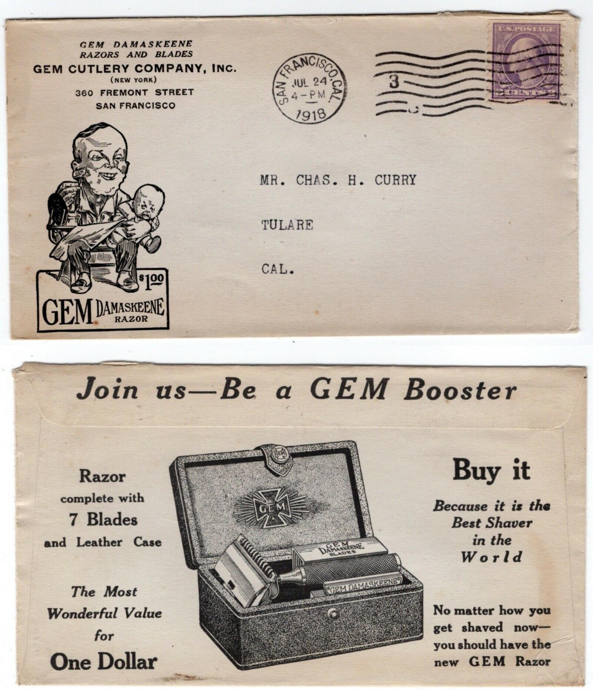 Enveloppe The Gem - 1918