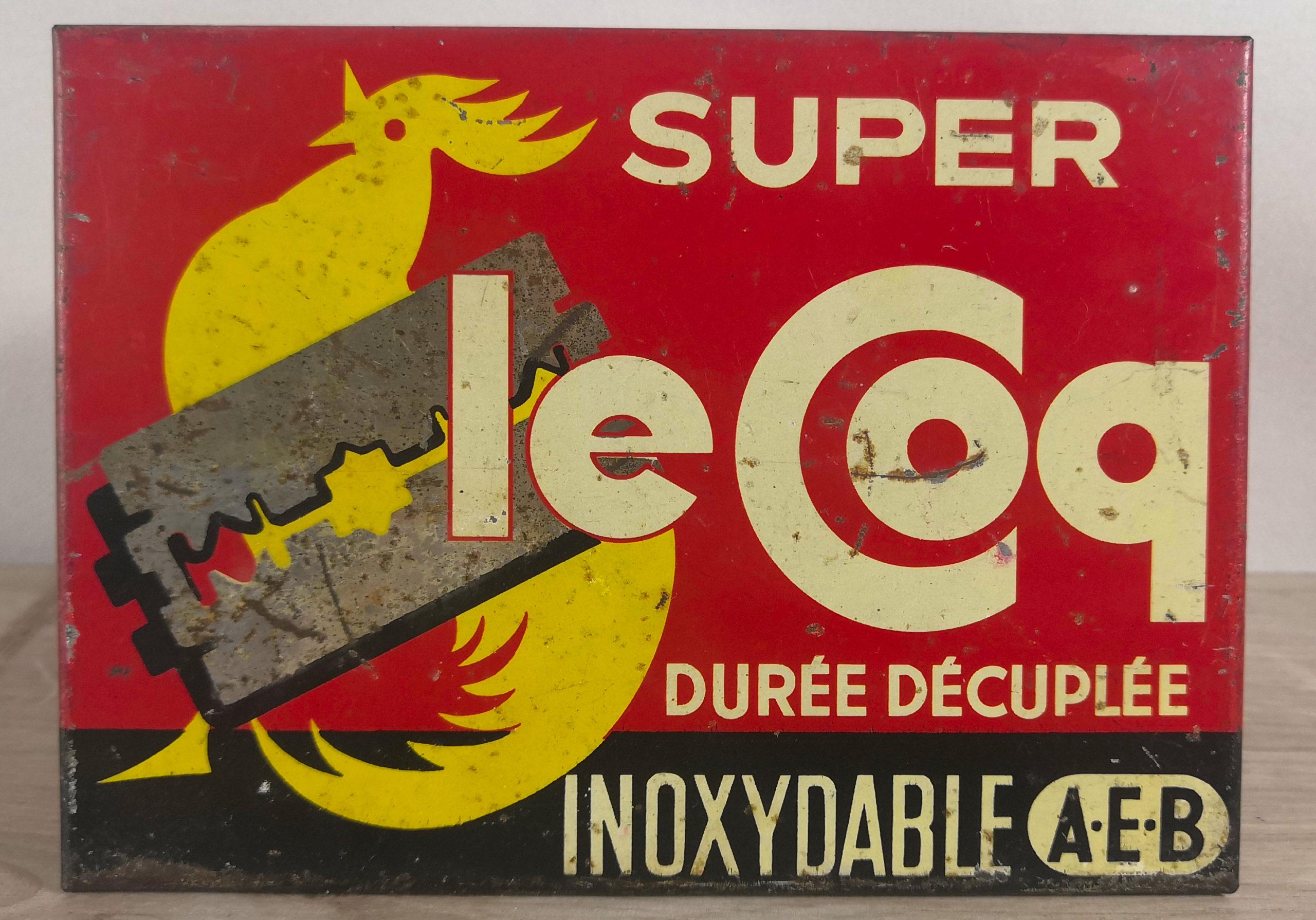 Plaque en métal Lame Le Coq