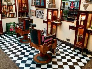 salon de coiffeur anglais captain fawcett